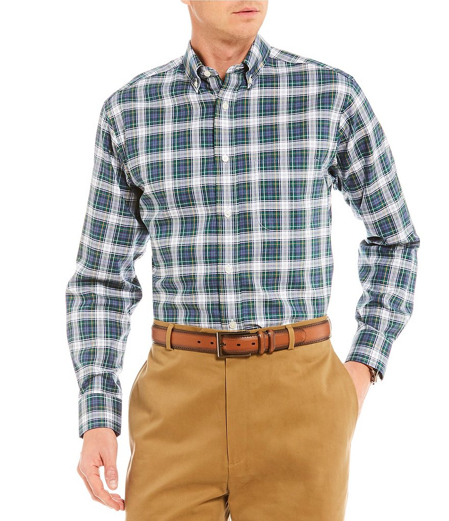 Daniel Cremieux Signature Medium Grid Plaid Long-Sleeve Woven Shirt