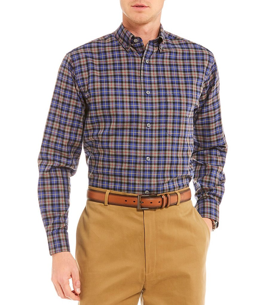 Daniel Cremieux Signature Duel Tartan Plaid Long-Sleeve Woven Shirt