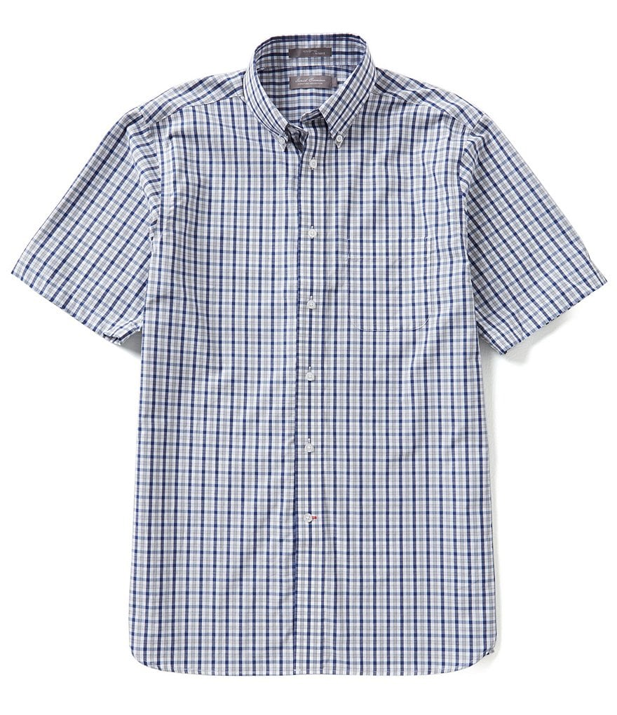 Daniel Cremieux Signature Short-Sleeve Multi-Plaid Woven Shirt