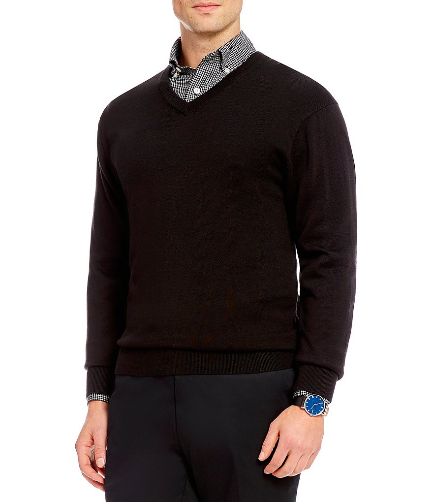Daniel Cremieux Signature Solid Supima V-Neck Sweater | Dillards
