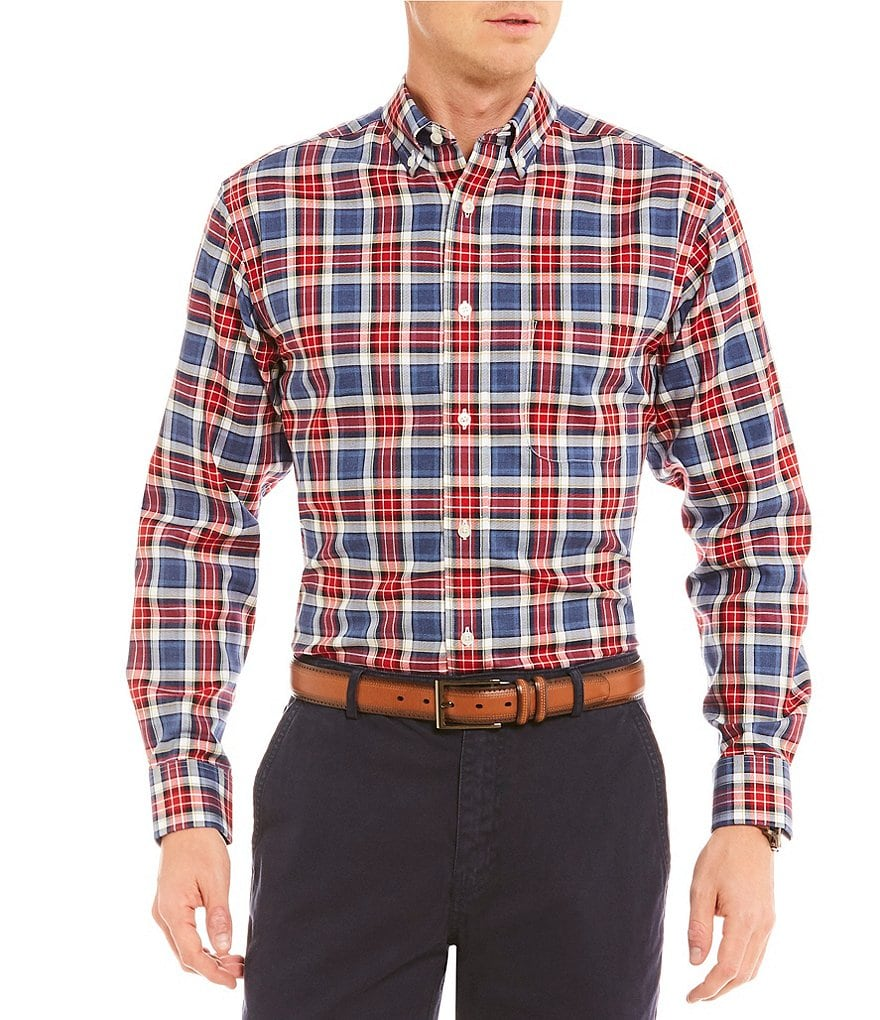 Daniel Cremieux Signature Tartan Plaid Long-Sleeve Woven Shirt