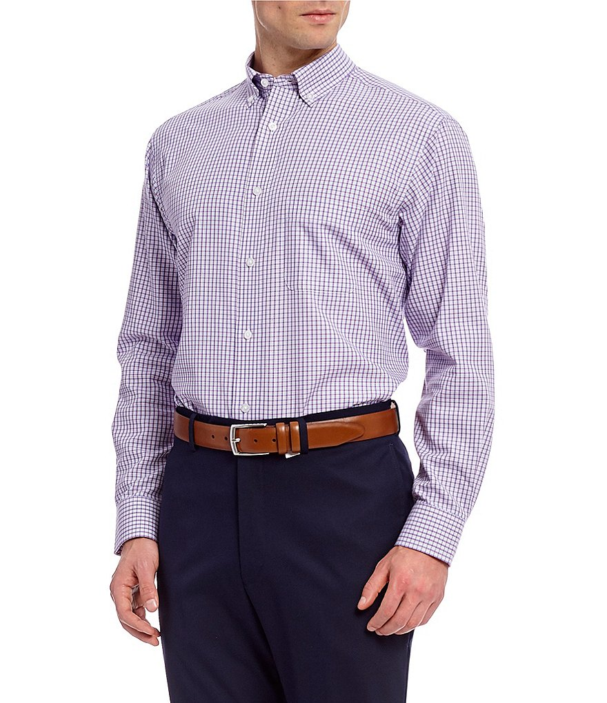 Daniel Cremieux Signature Tatersall Pinpoint Long-Sleeve Woven Shirt