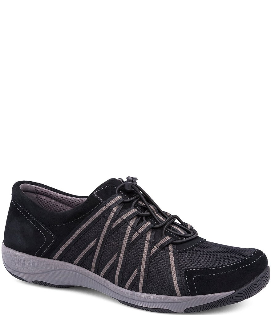 Dansko Holland Suede & Mesh Bungee Lace Up Sneakers