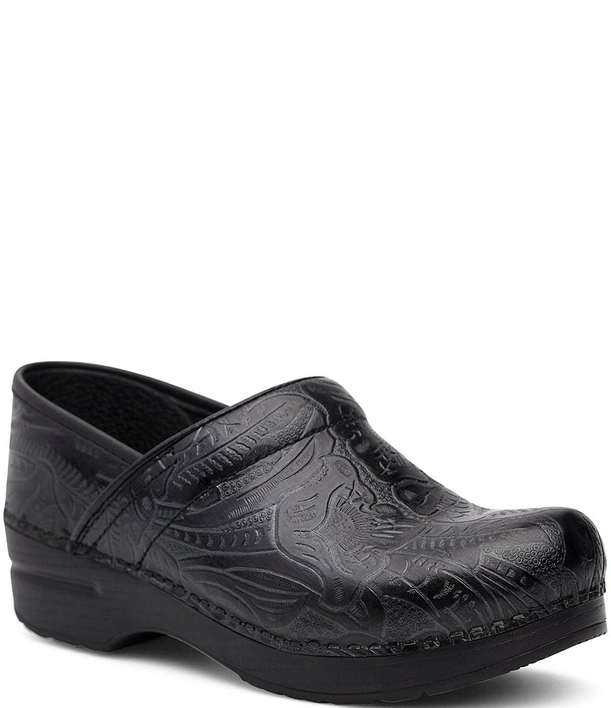 Dansko Professional Floral Embossed Tooled Clogs Dillards