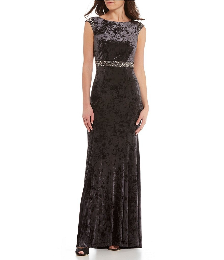 Decode 1.8 Cowl Back Velvet Gown