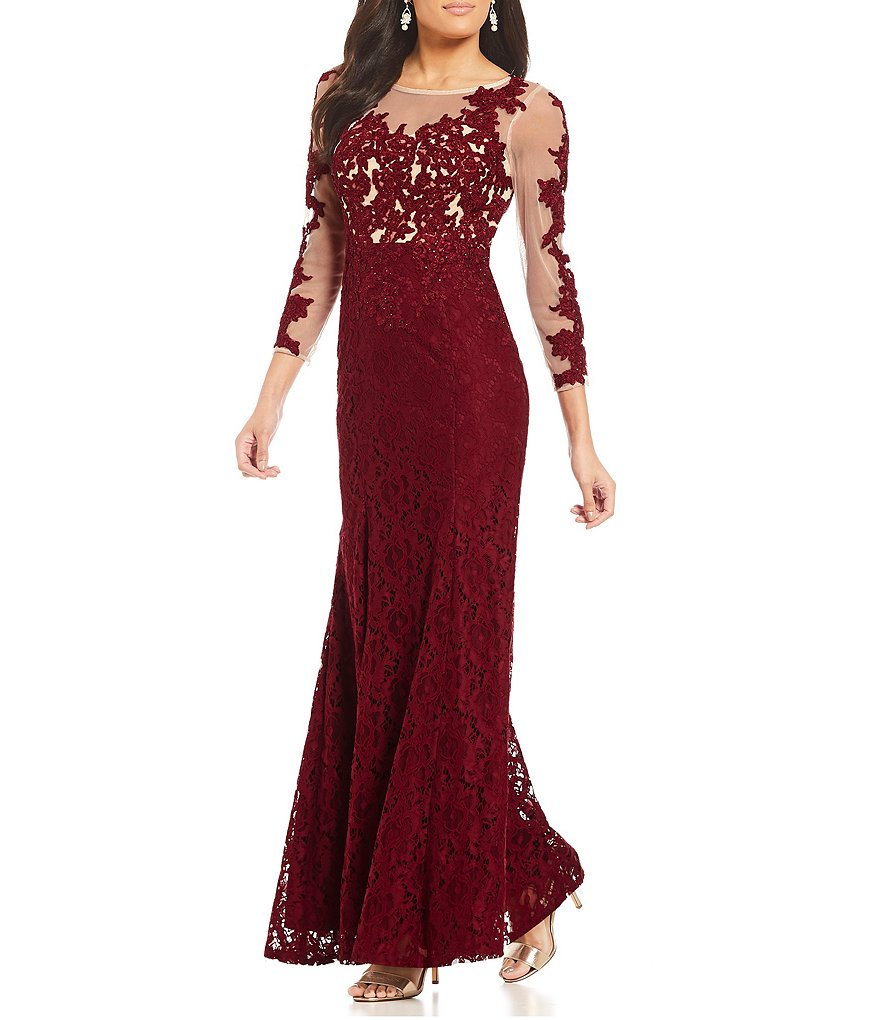 Decode 1.8 Illusion Lace Applique Gown