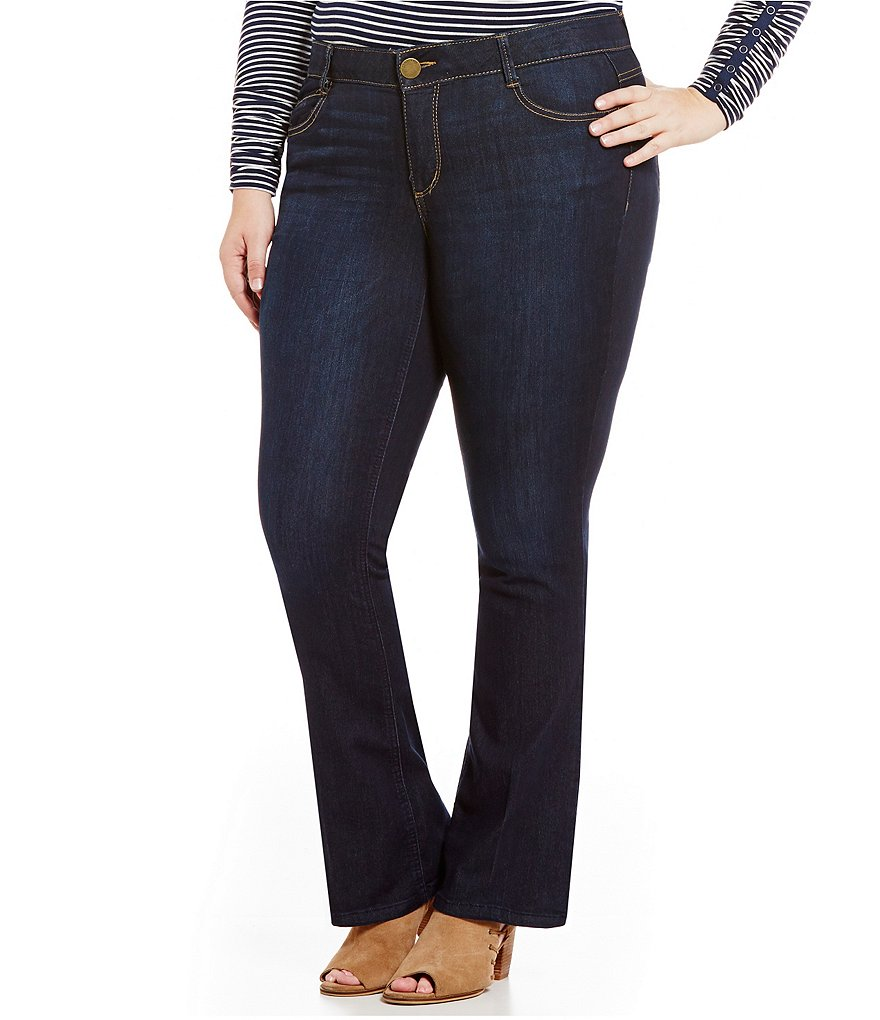 Democracy Plus ´Ab´ Solution Dark Wash Itty Bitty Bootcut Jeans