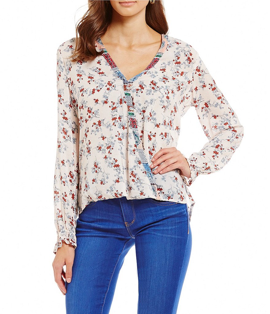 Democracy Twin Print Envelope Wrap Top