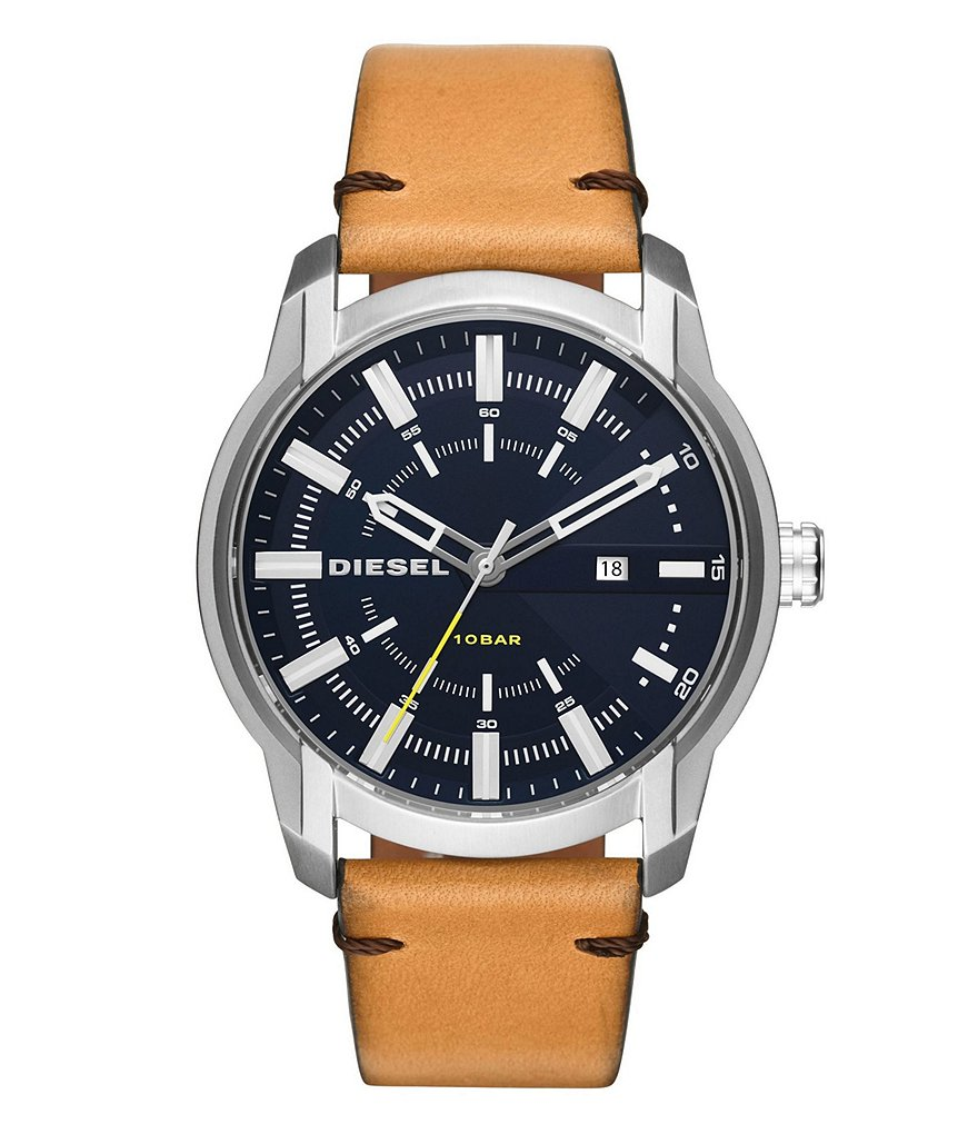 Diesel Armbar Leather-Strap Watch