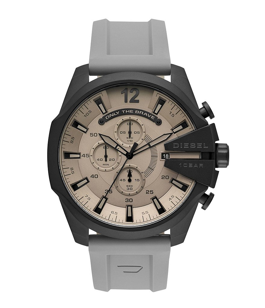 Diesel Mega Chief Analog Gray Silicone Watch