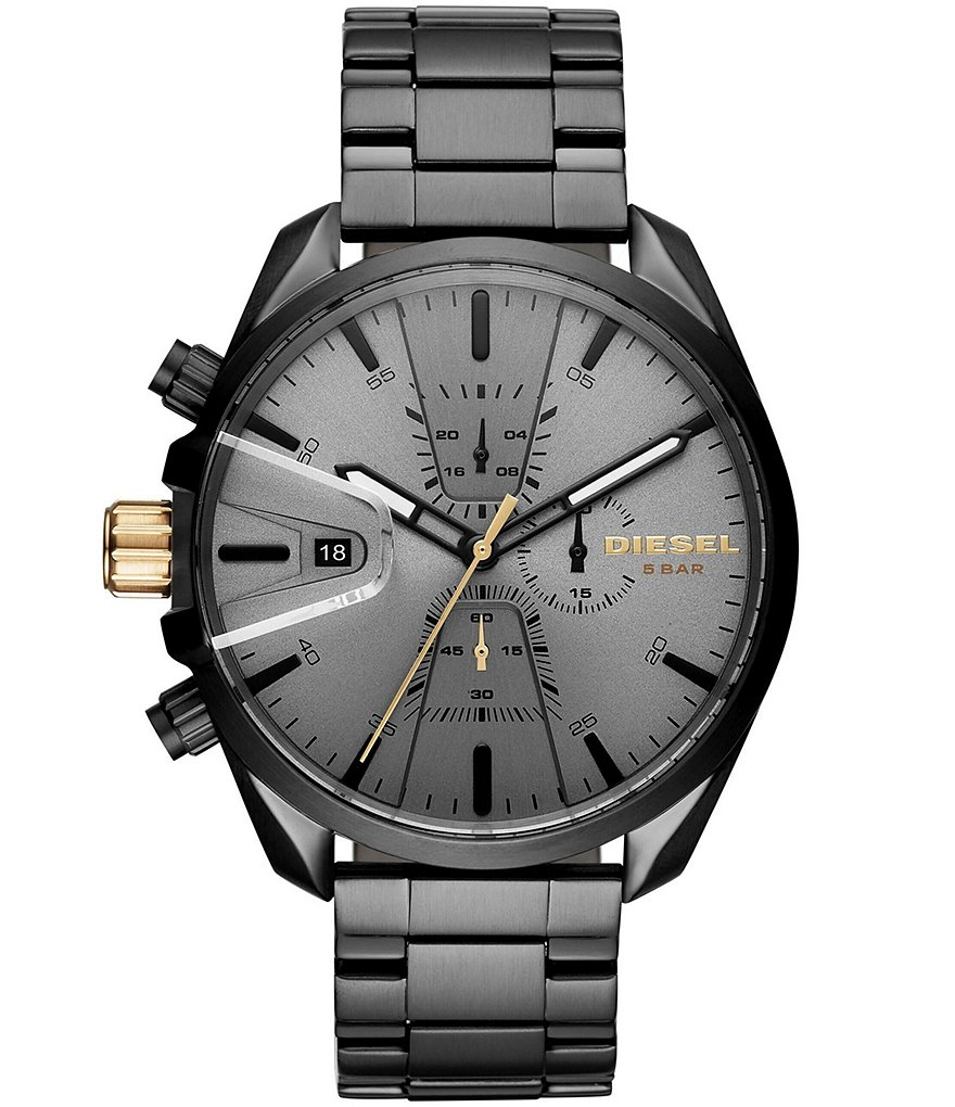 Diesel Men's MS9 Chrono Black IP Watch