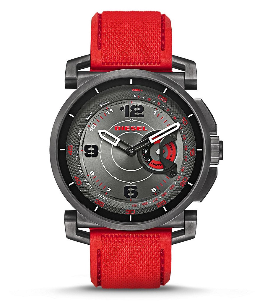 Diesel On Time Silicone-Strap Hybrid Smart Watch
