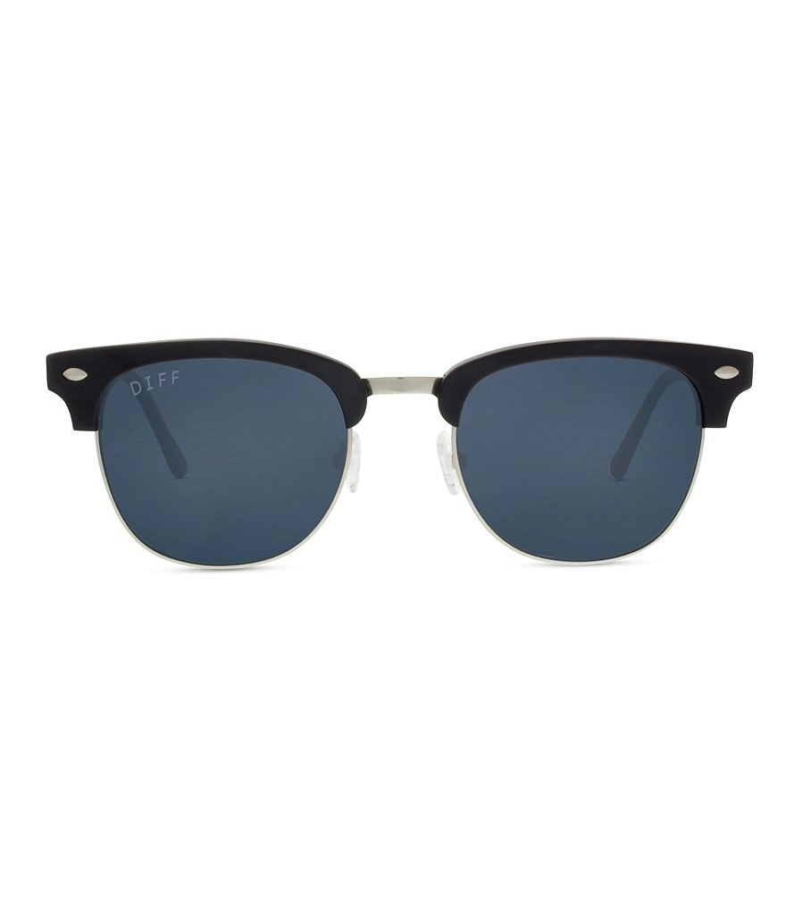 DIFF Eyewear Barry Polarized Clubmaster Sunglasses
