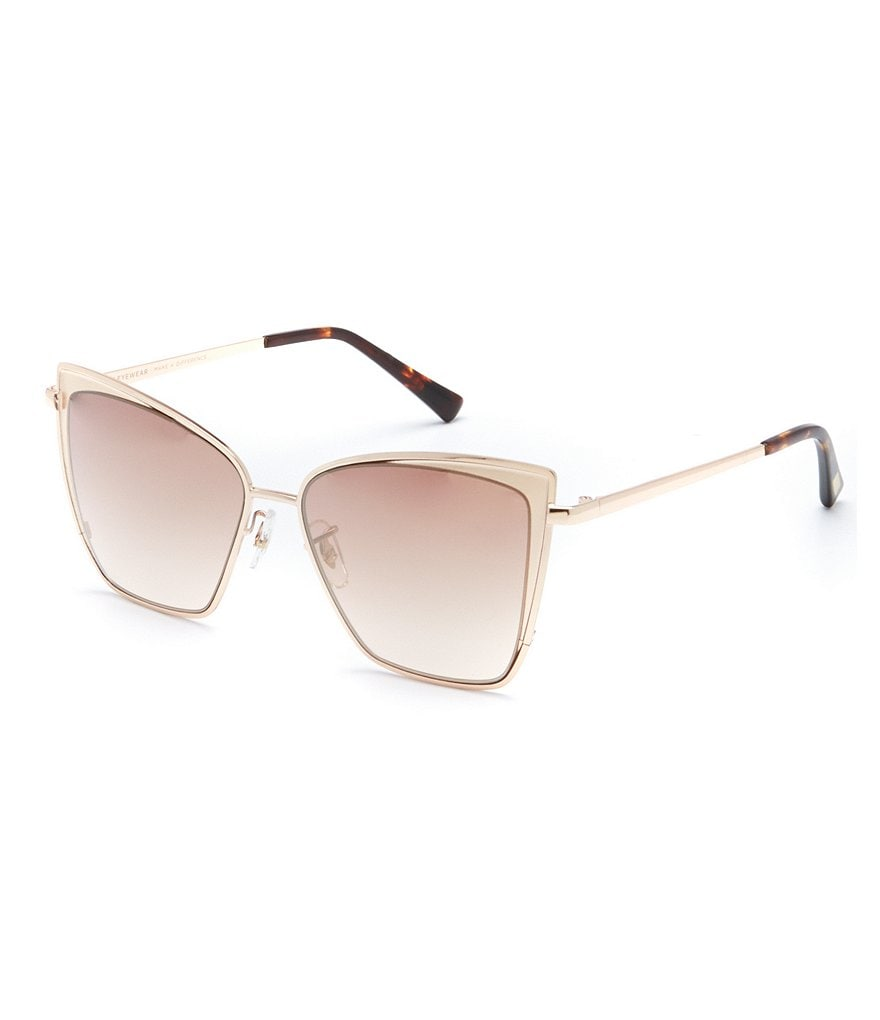 DIFF Eyewear Becky Polarized Gradient Cat-Eye Sunglasses