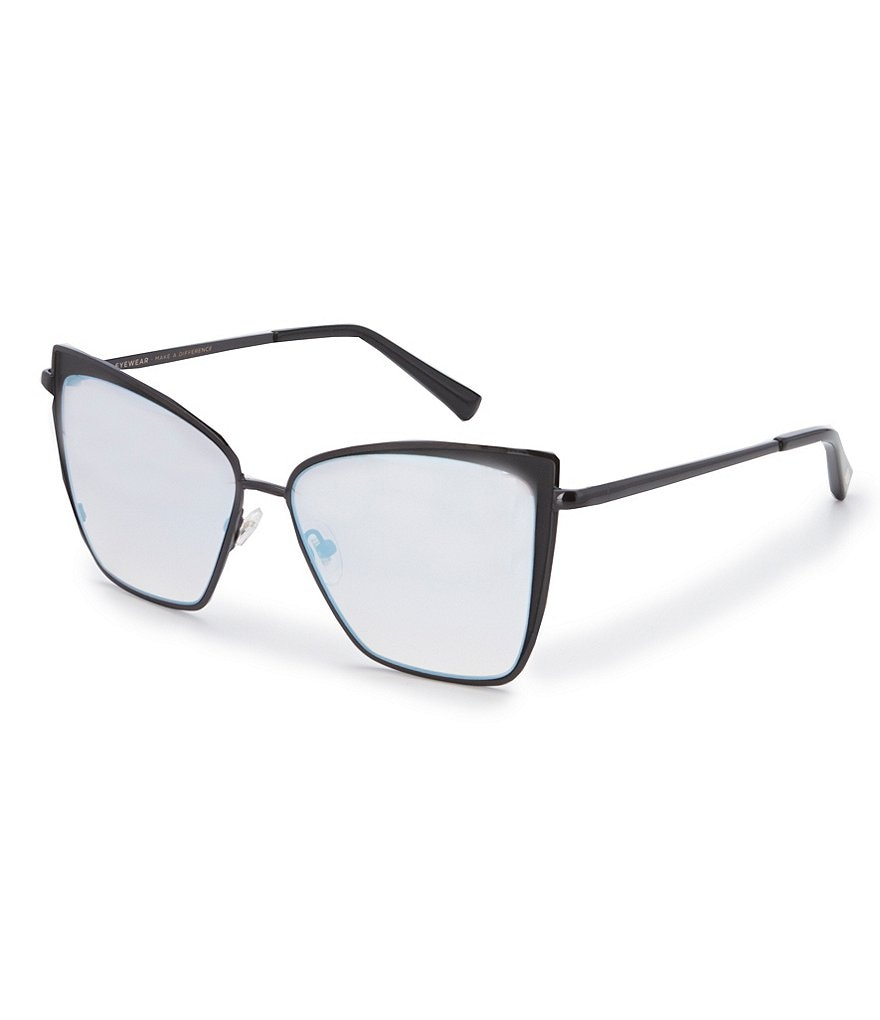 DIFF Eyewear Becky Polarized Mirrored Cat-Eye Sunglasses