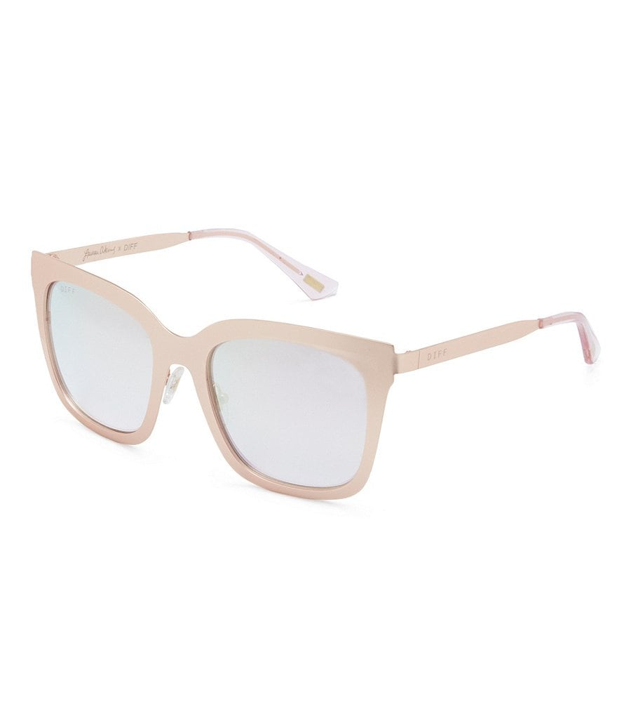 DIFF Eyewear Lauren Akins Ella Mirrored Square Sunglasses