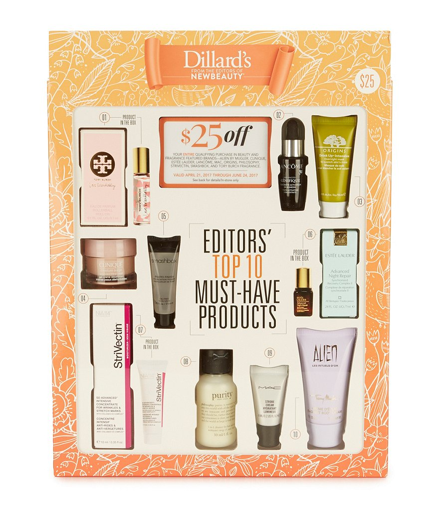 Dillard´s & NewBeauty Editors´ Top 10 Must-Have Products Beauty Box