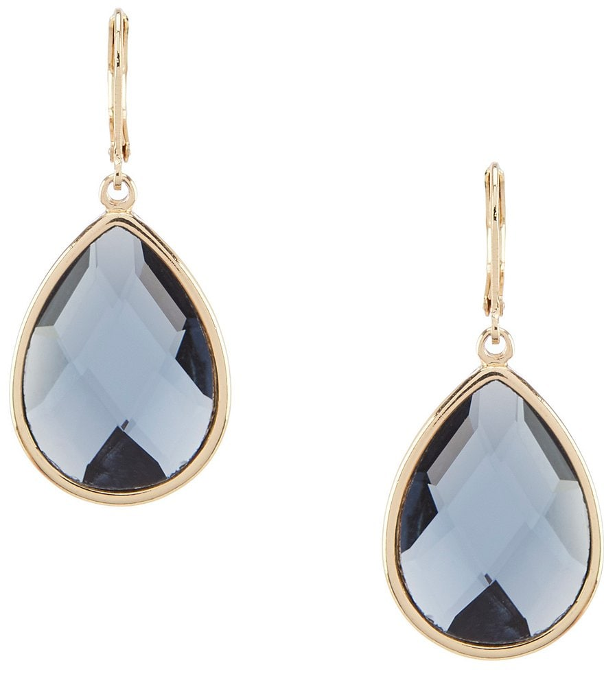 Dillard's Faceted Stone Teardrop Earrings