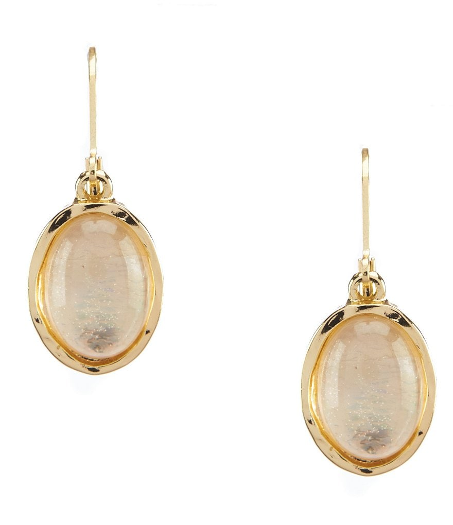 Dillard's Irredescent Oval Drop Lever Back Earrings