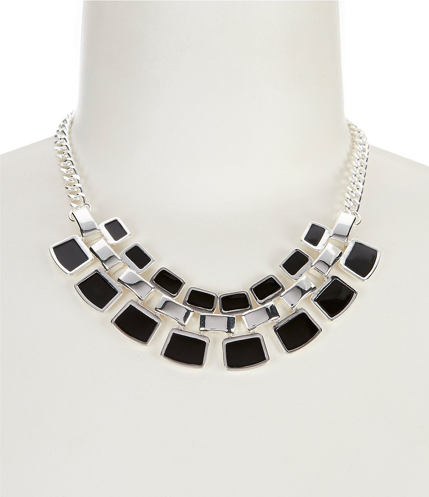 Dillard's Square Links Collar Necklace