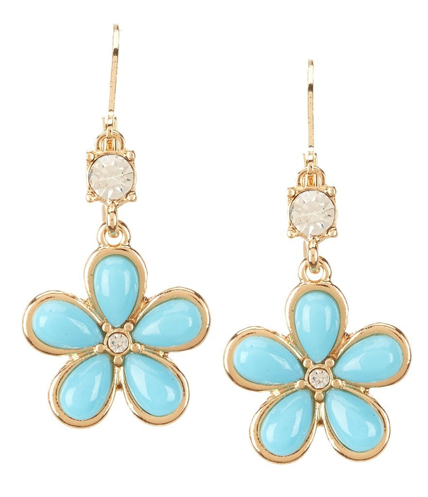 Dillard´s Tailored Flower Drop Statement Earrings