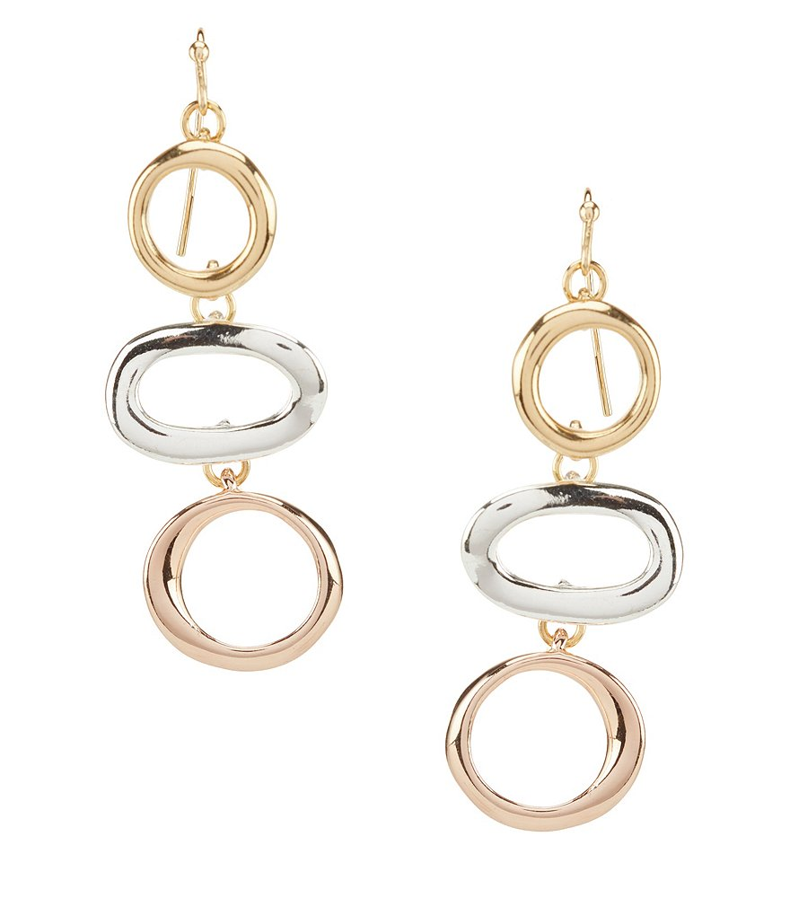 Dillard's Tailored Oval Linear Drop Earrings