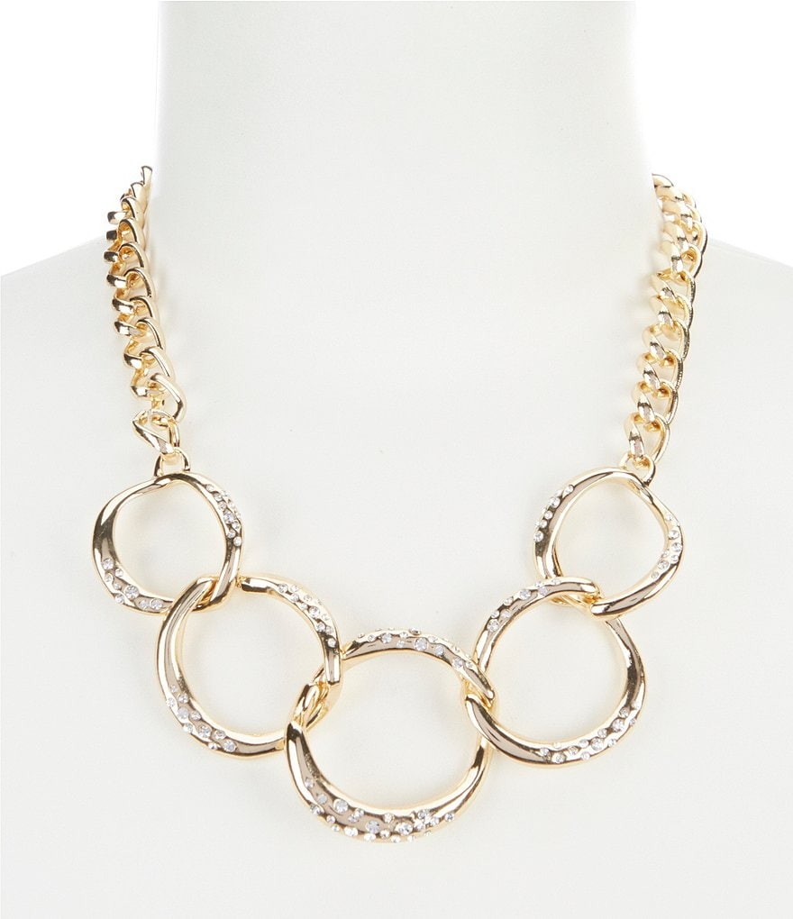 Dillard's Tailored Pavé Open Round Frontal Statement Necklace