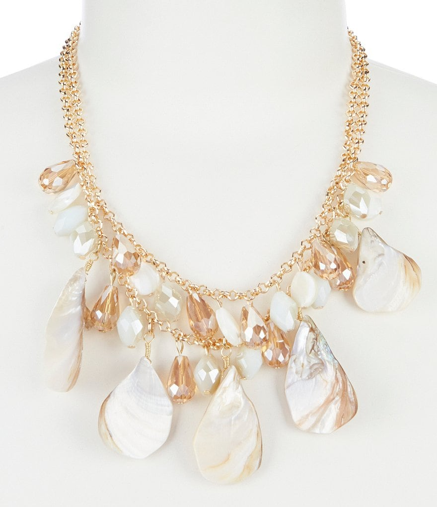 Dillard's Tailored Seashell Mix Statement Necklace