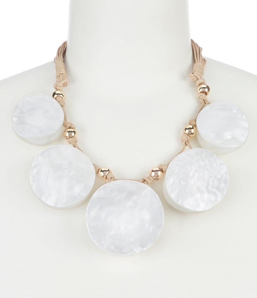 Dillard's Tailored Shell Circles Statement Necklace