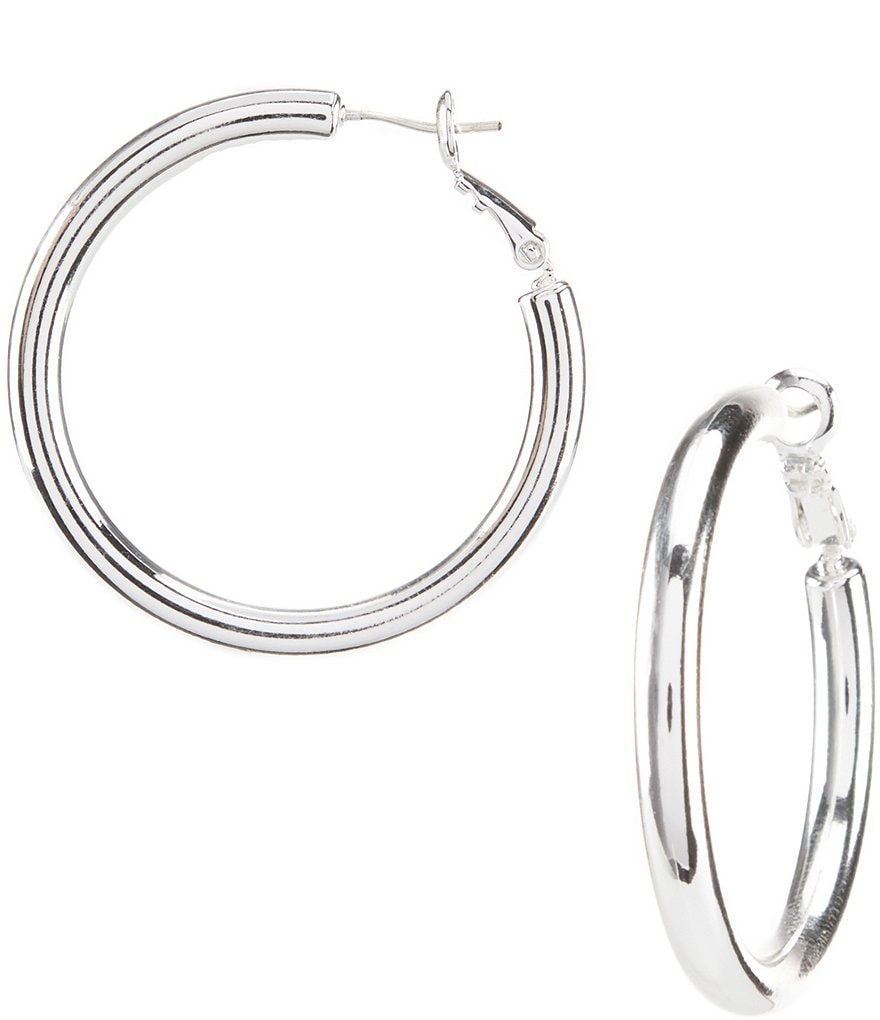 Dillard´s Tailored Thick Wire Hoop Earrings