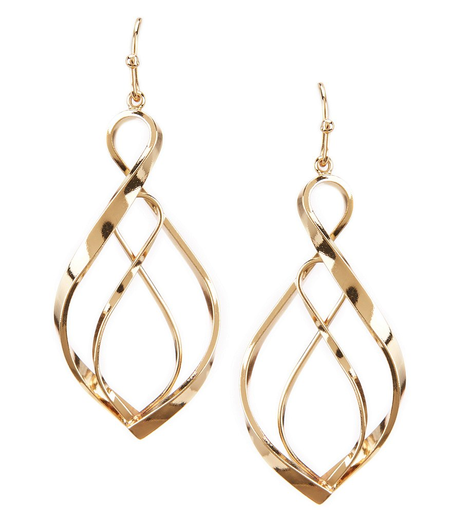 Dillard´s Tailored Twisted Drop Earrings