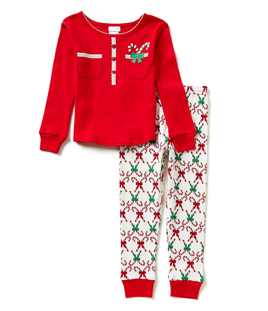 Sweet Heart Rose Little/Big Girls 6X-14 Candy Cane Pajama Top & Pants Set