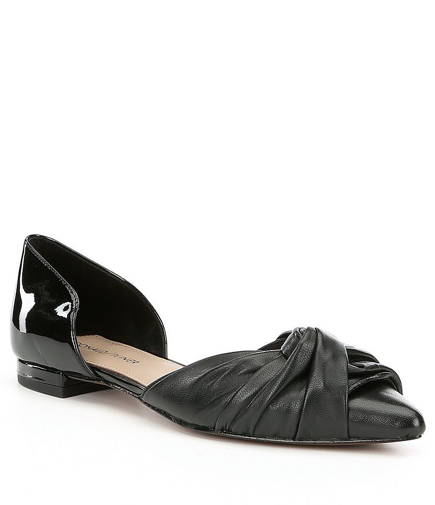 Donald J Pliner Pennie Pleated d'Orsay Flats