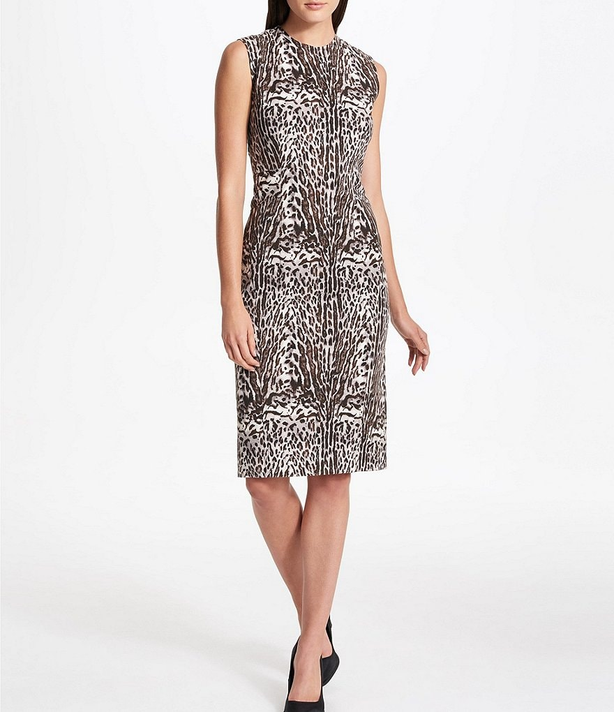 Donna Karan New York Animal Print Sheath Dress