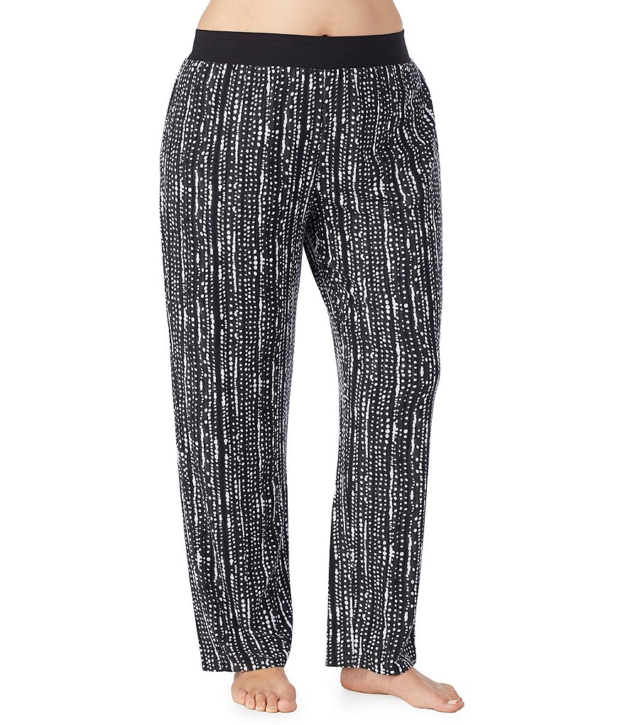 Donna Karan Plus Printed Knit Wide Leg Sleep Pants