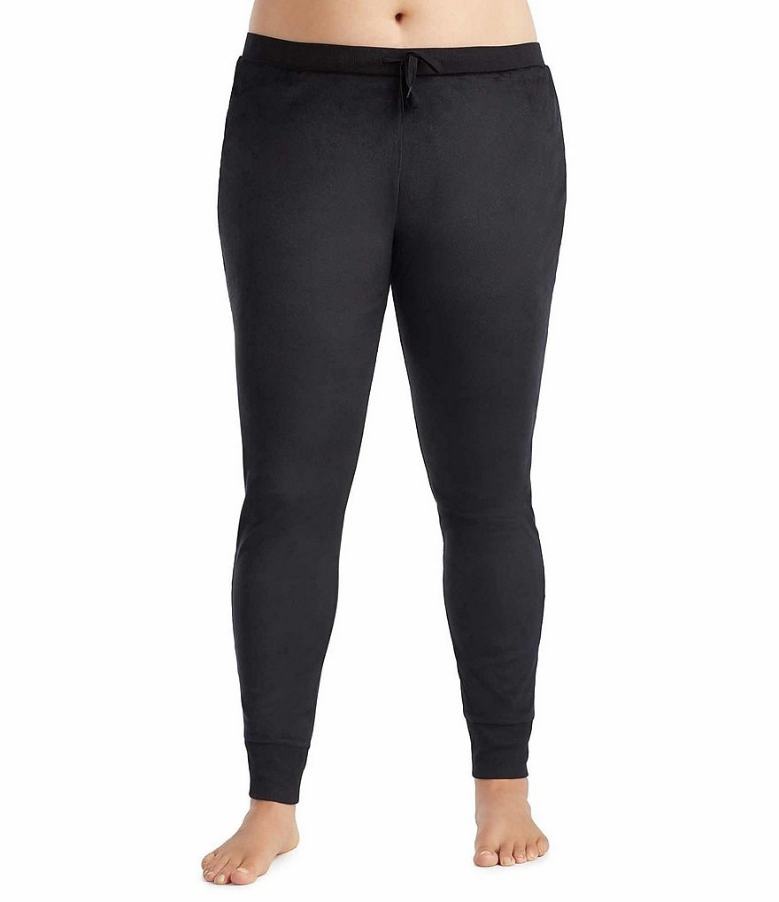 Donna Karan Plus Velour Lounge Leggings