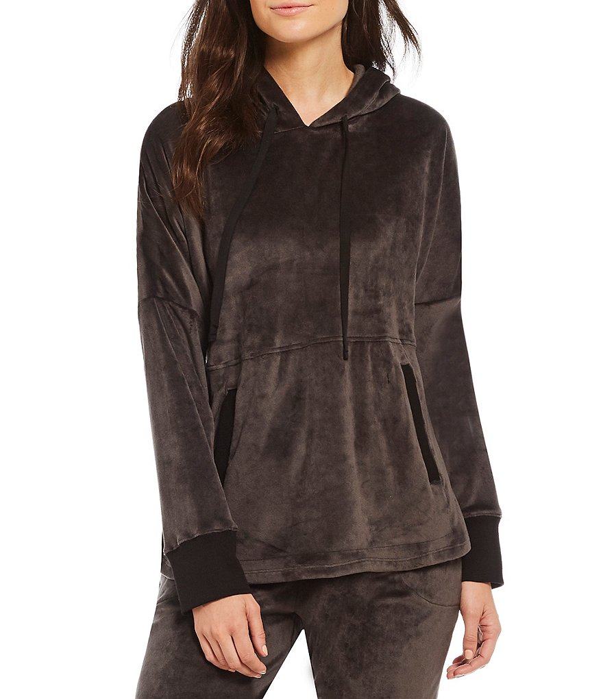 Donna Karan Plush Velour Sleep Hoodie