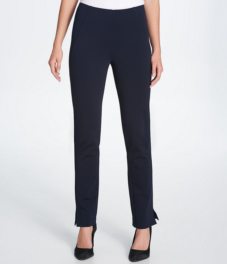 Donna Karan New York Ponte Knit Split Hem Ankle Pants
