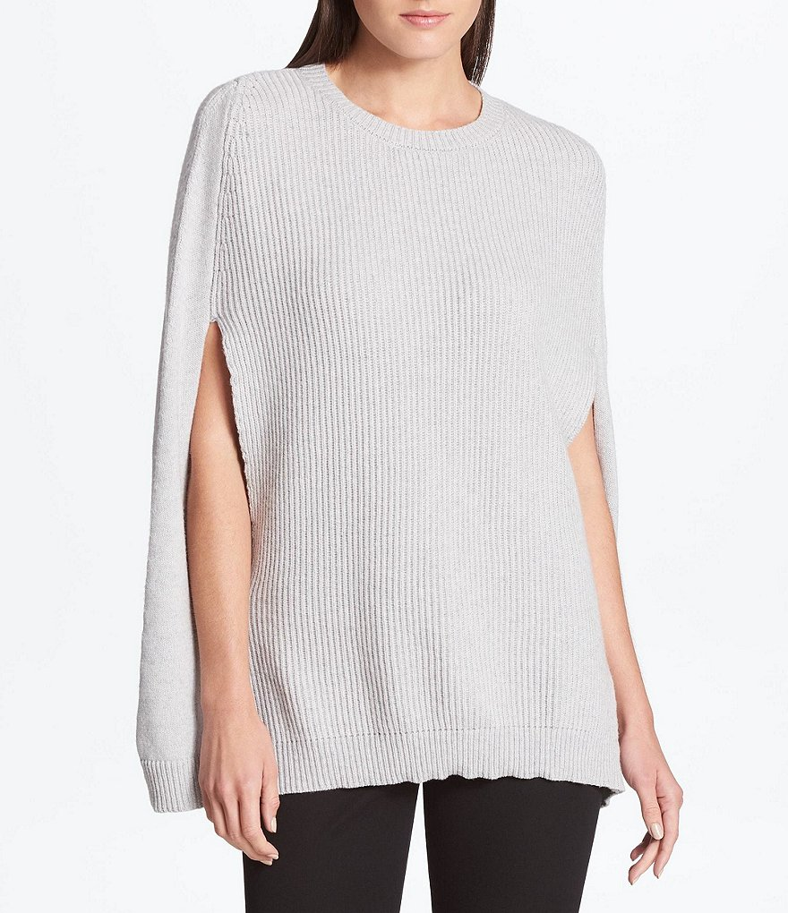 Donna Karan New York Ribbed Front Sweater Cape