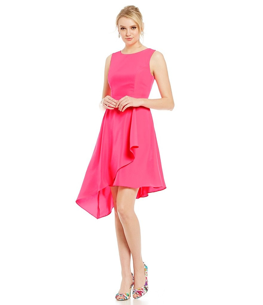 Donna Ricco Asymmetrical Fit-and-Flare Dress