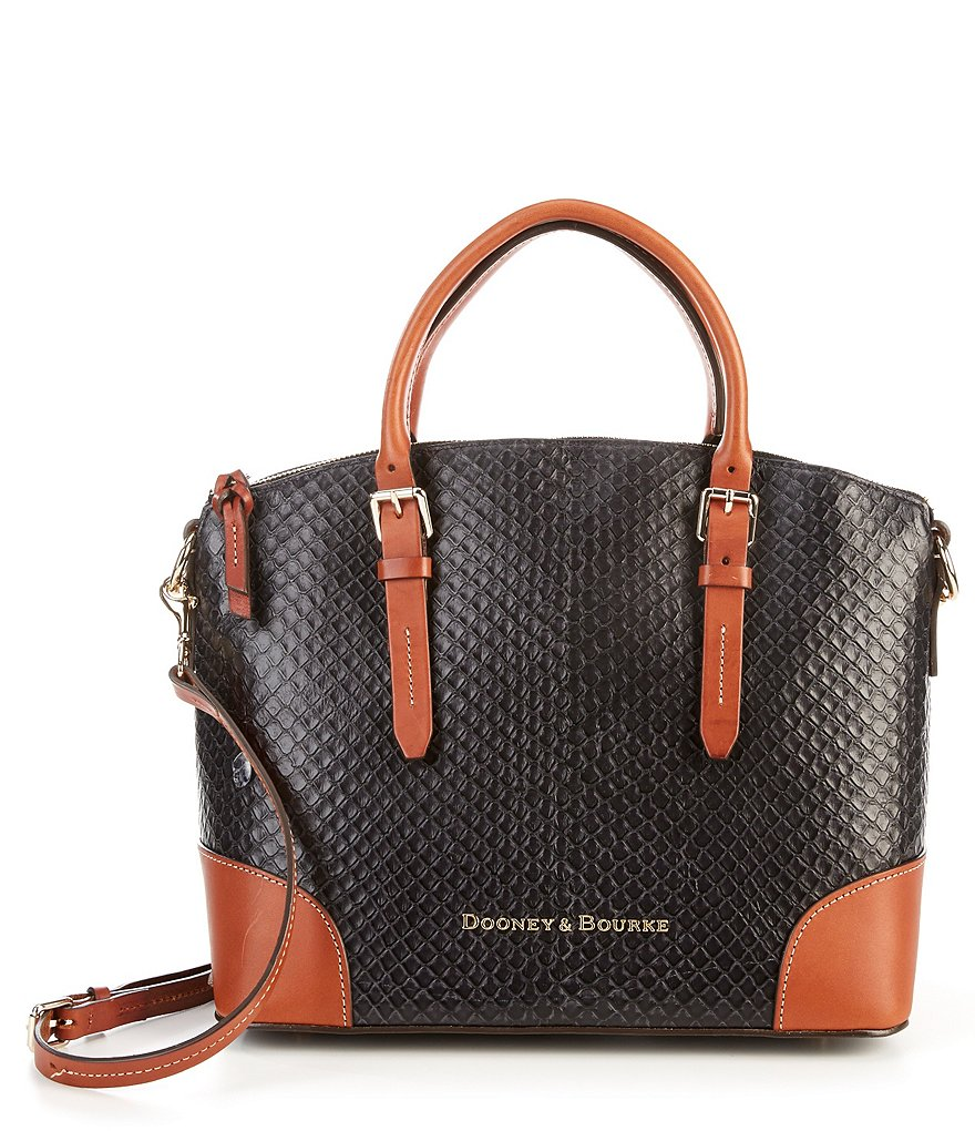 Dooney & Bourke Cordova Collection Woven Embossed Domed Satchel