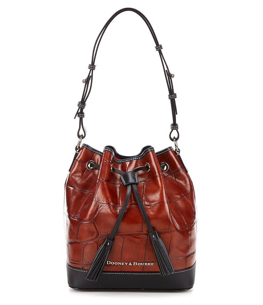 Dooney & Bourke Denison Collection Tasseled Drawstring Bag