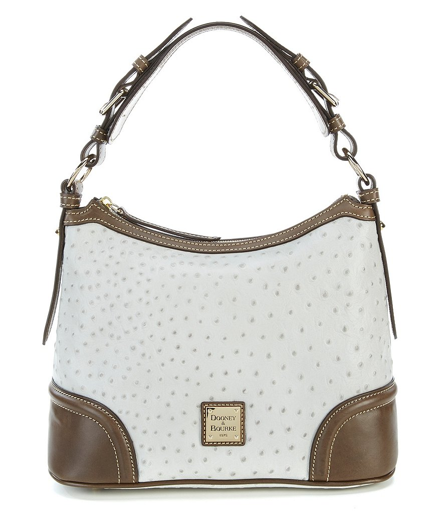 Dooney & Bourke Dillards 75th Anniversary Ostrich Collection Hobo Bag