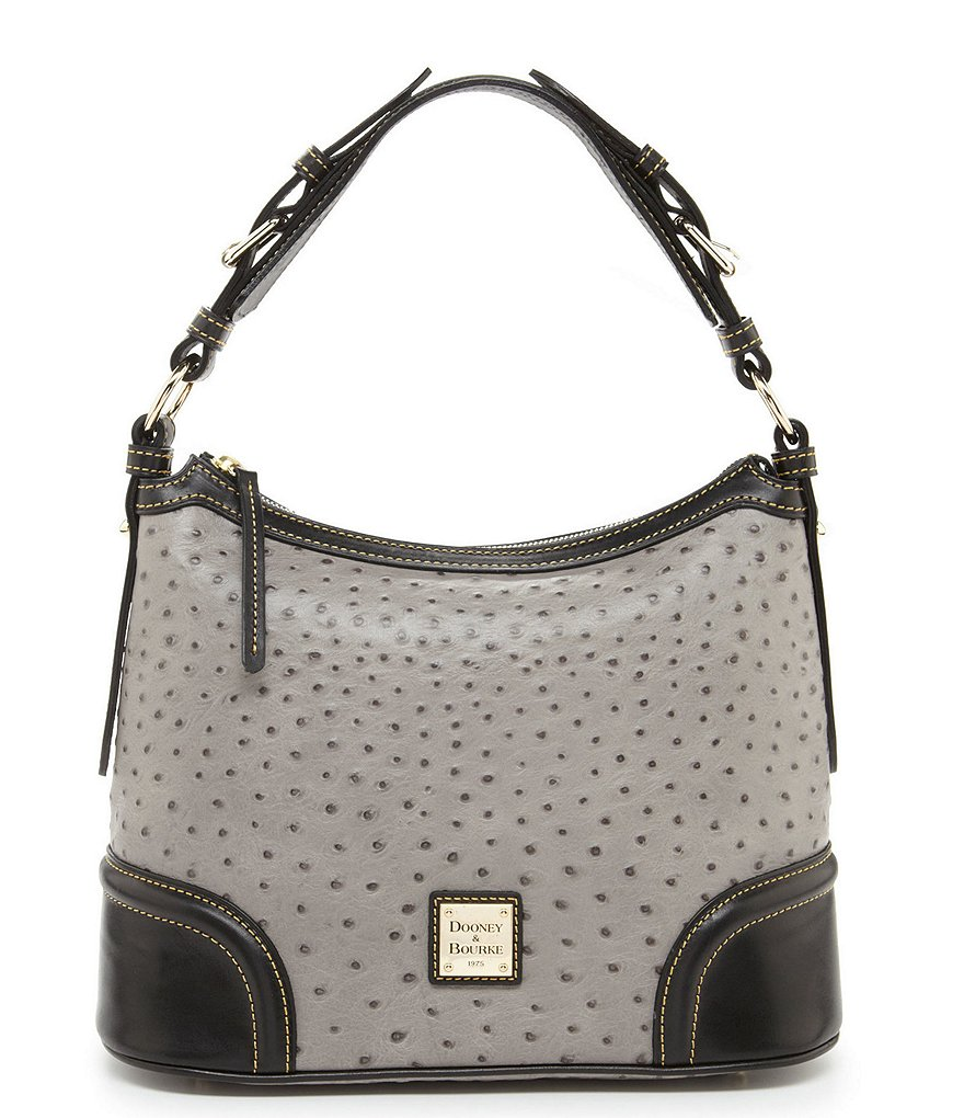 Dooney & Bourke Ostrich Collection Hobo Colorblock Bag