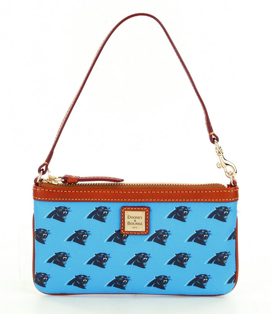 Dooney & Bourke NFL Collection Carolina Panthers Large Slim Wristlet