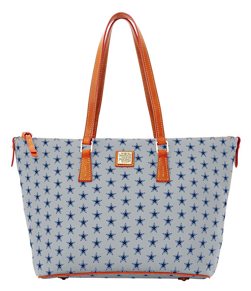 Dooney & Bourke NFL Collection Dallas Cowboys Zip-Top Shopper Tote