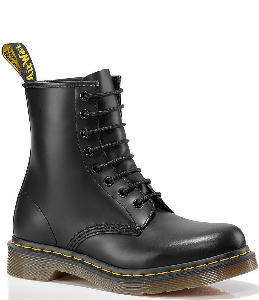 Dr. Martens Women s 1460 Smooth Leather Combat Boots  58ad47d4d346