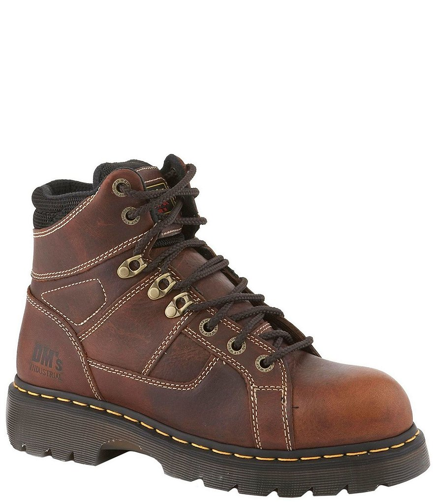 Dr. Martens Men's Ironbridge Industrial Water-Resistant Steel-Toe Work Boots