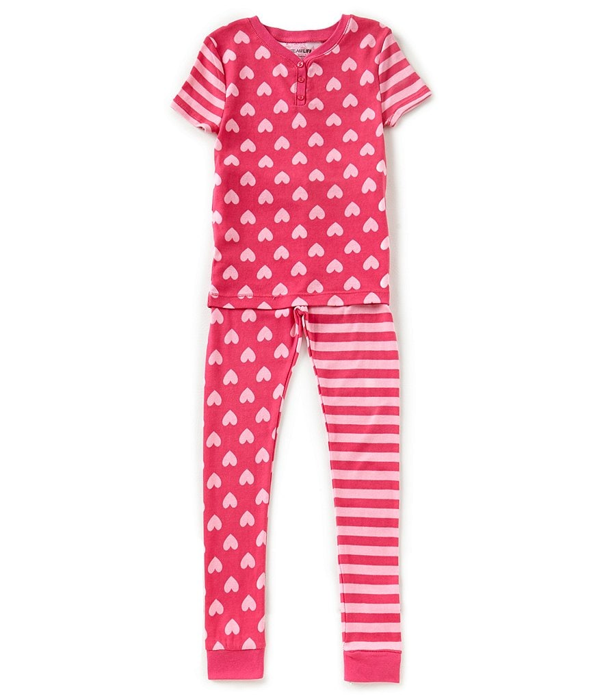 Dream Life by Us Angels Big Girls 7-16 Mixed-Media Pajama Top & Pajama Pant Set