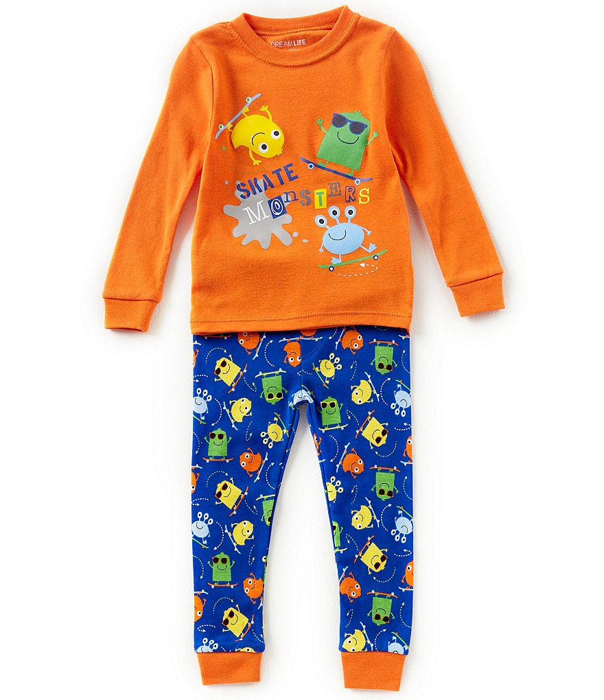 Dream Life by Us Angels Little Boys 2-7 Skate Monster Top & Pants Pajama Set